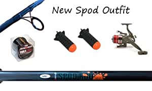 Complete Carp spod Rod 5lb tc Reel And Spods Out Fit Setup