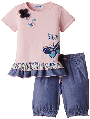 Nauti Nati Baby Girls' Clothing Set (NSS15-216_Pink_6 - 12 months)