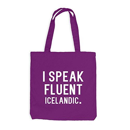 Jutebeutel - Parlo Fluentemente Islandese - Sprache Magenta