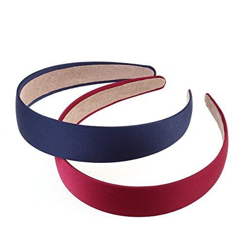 Kaimeng 5 coppie di cerchietto fasce capelli elastiche larghi fascia dura fascia per mamma e bimba colorate regali
