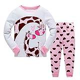 Jungen Mädchen Schlafanzug Giraffe Baumwolle Kinder Langarm Pyjama 98 104 110 116 122 128 134 140 146