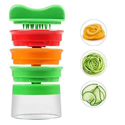 Affettaverdure, ballery 3 lame di verdure a spirale affettatrice, palmare spaghetti maker per carote, cetrioli, patate, zucca, zucchini noodle