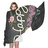 BIGJOKE Damen Schal aus Seide, mit Zitat zum Muttertag, leicht, lang, weich, Chiffon, für Damen/Mädchen/Herren