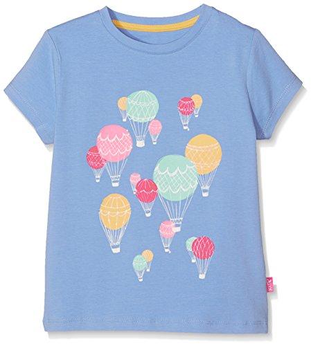 Kite Mädchen Balloons T-Shirt, Blue (Cornflower), 8 Jahre