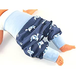 Lange Pumphose Größe 92/98 Baby Hose Mitwachshose Motiv: Schildkröte