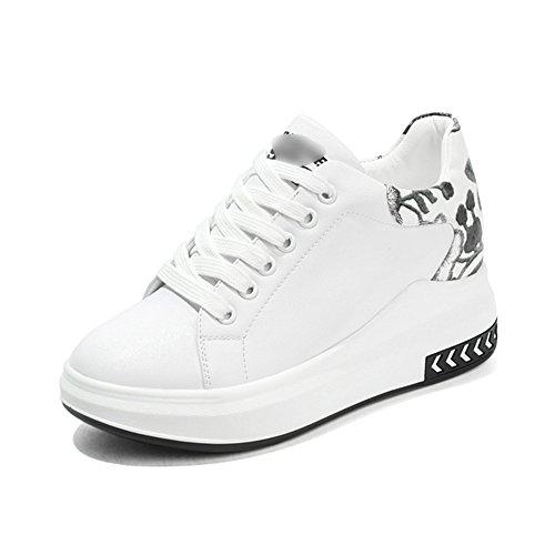 LIANGJUN Baskets Chaussures De Femme Lacets Fond Épais Printemps De Plein Air, 2 Couleurs Disponibles, 5 Tailles
