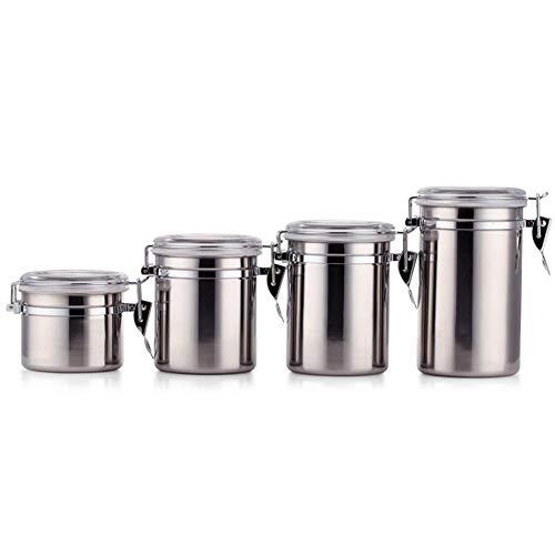 Lolly-U Edelstahl-versiegelte Kanister, für Kaffeebohnen, Zucker, Tee, Flasche, Küche, Tanks und...
