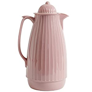 Nordal Isolierkanne Teekanne Kaffeekanne 1000ml 28cm Rosa Rosé