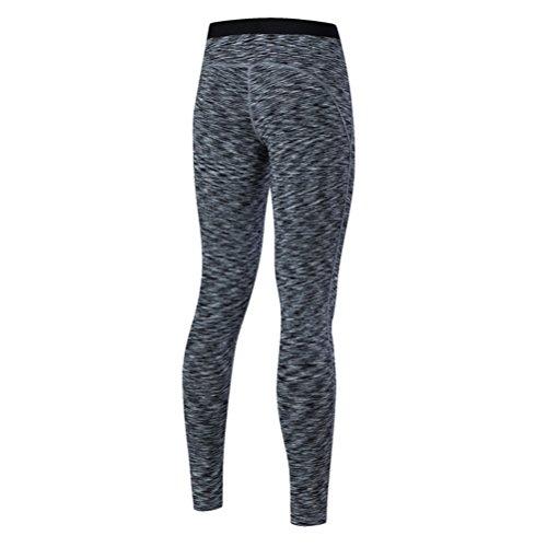 Zhhlaixing Fashion Women's Tights Yoga Sports High Waist Elasticity Fitness Pants gray