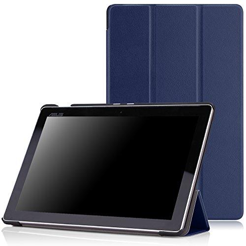MoKo ASUS Zenpad 10 (Z300C / Z301) Case,Ultra Sottile Leggero Supporto Custodia per ASUS Zenpad 10.1' (Z300C/Z300CNL/Z300CG/Z300CL/Z300M) Tablet, Blu (Indaco)