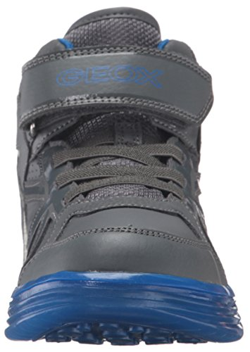 Geox J Argonat C, Sneakers Hautes Garçon Grau (DK GREY/ROYALC0071)