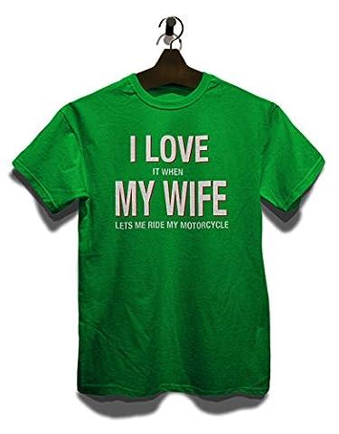 I Love My Wife T-Shirt gruen-green M