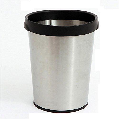 Preisvergleich Produktbild Mülltonnen Mülleimer Edelstahl-Haushalt Kein Deckel Mülleimer Büro Papierkorb