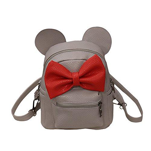 Rucksack Bag New-handtaschen (Damenhandtaschen Ronamick New Mickey Rucksack Female Mini Bag Damen Rucksack Handtasche Tasche Henkeltasche Umhängetasche Schultertasche (grau))