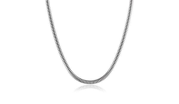 Engelsrufer Torokette Women's Snake Chain 1.4 MM 925 Sterling Silver Rhodium-Plated 80 CM-Ernt - 80 WsU6jjLGz