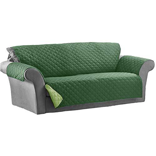 Kasa shop outlet copridivano/salvadivano imbottito, reversibile doubleface copertura divano (verde, divano 4 posti 215 x 386cm)