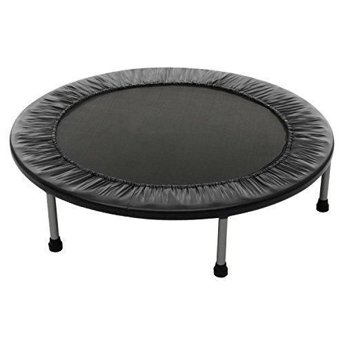 Tomasa Fitness Trampolin 102cm Durchmesser Indoortrampolin mit Sicherheits-Pad Gartentrampolin belastbar bis 100 kg