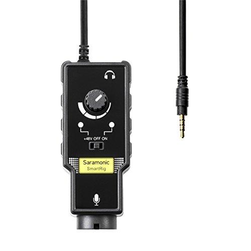 Saramonic Smartrig II XLR Mikrofon & 6,3 mm Gitarrenadapter mit Phantomspeisungsverstärker für iPhone X 8 8 plus 7 7 plus 6 iPad iPod, Android Smartphone und Gitarre für Video Vlogging Youtube Ipod Touch Jack