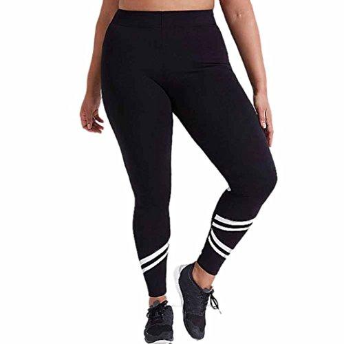 OverDose leggings mujer deporte pantalones de fitness elásticos de empalme talla grande