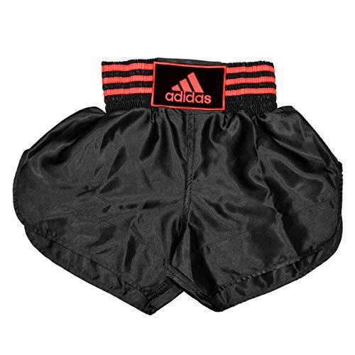 Adidas Thai - Pantalones Cortos de Boxeo, Color Negro y Verde, Negro, 0