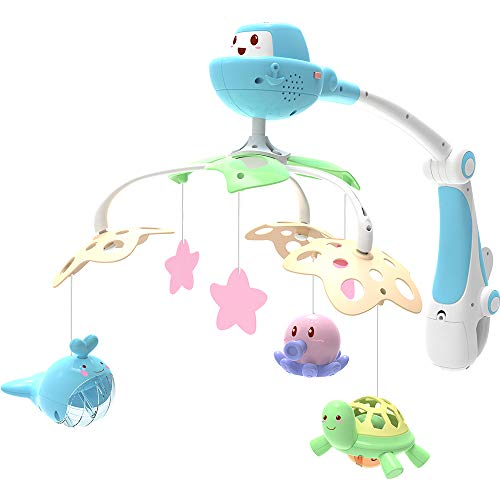 GoAppuGo Ocean Musical Cot Mobile with Battery Operated Rotation, 4...