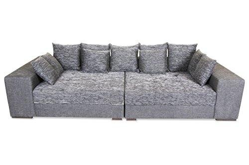 Sofa Bigsofa Loop - Schwarz - Webstoff Schwarz