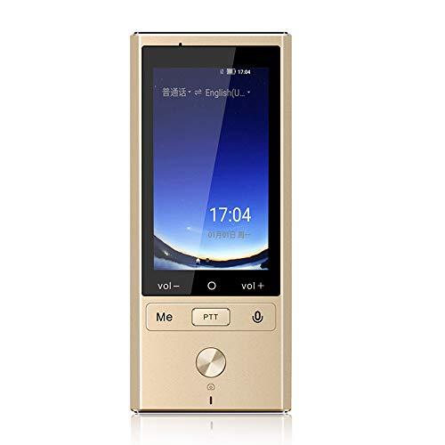 Portable WiFi Smart Sprachaufzeichnung Übersetzer-Unterstützung 75 Sprachen, 8 Sprachen Offline-2-Wege-Sofortübersetzung,Gold