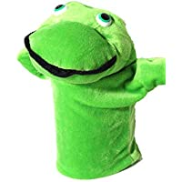 Vinayak Toys Cute & Soft Frog Hand Puppet / Animal Puppet for Baby, Kids