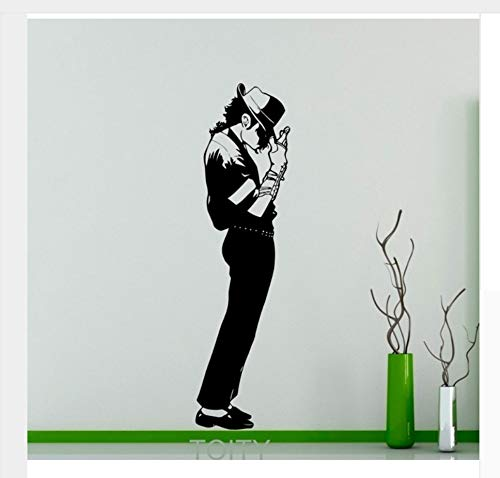 Michael Jackson Wand Aufkleber King Of Pop Star Vinyl Aufkleber Kunst Dekor Musik Home Interior Room Retro Wandbild 185X50 Cm