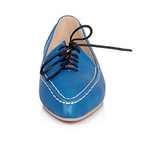 Confortevoli Outdoor A Blu Piedi Classiche Lacci Appartamenti Donne Coolcept Scarpe Lisci Corti I0SqwZ