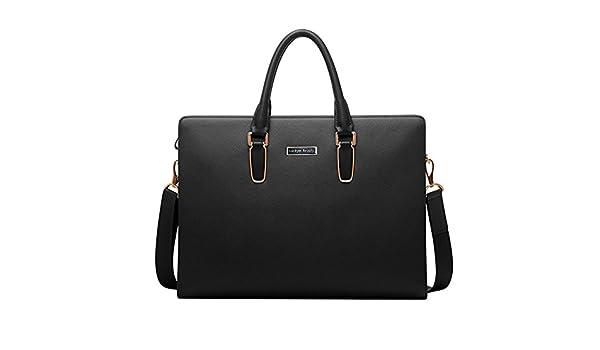 8d6dcceecb Luckyer Beauty Besace en cuir véritable sac porte épaule sacoche pour PC  portable sac bandoulière sac à dos sac à main pour hommes Noir: Amazon.fr:  Bagages