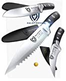 "DALSTRONG Paring Knife Set of 3 - Gladiator Series - Sheaths - 3.75"" Sheep's Foot - 2.75"" Bird's Beak - 3.5"" Serrated - Pakkawood Handle …"