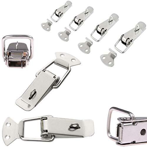 4x Spannverschluss Edelstahl, ideal als Kistenverschluss Klappverschluss - Verschiedene Größen & Varianten (65 mm, Abschließbar)