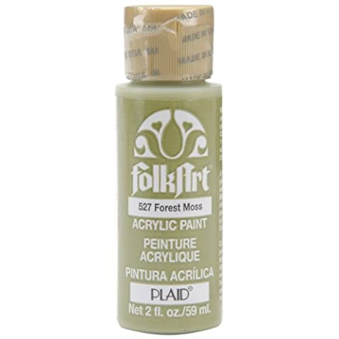 FolkArt Acrylic Paint in Assorted Colors (2 Ounce), 527 Forest Moss