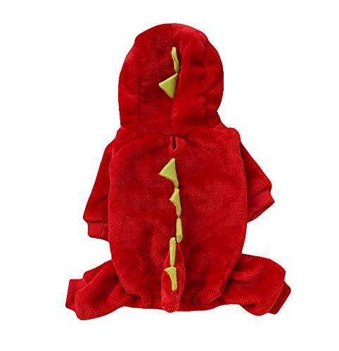 Yslin Dinosaurier Weiches Kapuzenpullover Puppy Small Kleidung Warme Slim Fit Kostüme Fashion Cute Jumpsuit Elegant Outdoor Verkleidungen