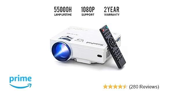 XuanPad Mini Projector Portable video-projector,55000