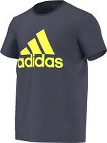 adidas Essentials T-shirt con Logo, da uomo, Grigio/Bianco, XS, AB6558 Multicolore - grigio/bianco