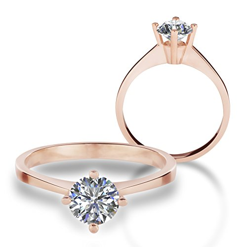 67f1272bfce2e Gold Ring Engagement Rings 585 Gold 585 Gold Ring with Swarovski ...