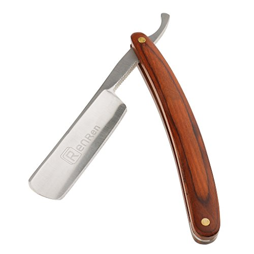 Segolike Professional 4 Styles Vintage Straight Edge Razor Barber Folding Shaving Tool Wooden Handle for Men - 1