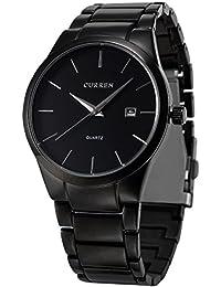 AMPM24 CUR048 - Reloj Hombre de Cuarzo, Correa de Acero Inoxidable Negro