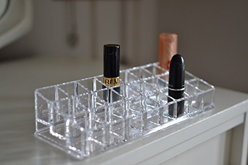 Premsons Acrylic Makeup Organizer - 24 Compartment - Transparent Luxurious Clear Lipstick Holder Cosmetic Case