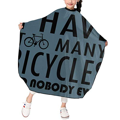Guten Ton Kostüm Zum - Children Kids Haircut Barber Cape Cover For Hair Cutting I Have Too Many Bicycles Said Nobody Ever