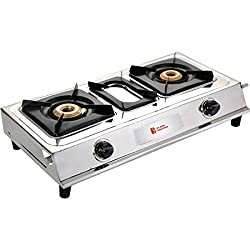 Luxmi Star Shine Major Stainless Steel Automatic ignition 2 Burner Gas Stoves. (Two Burner).