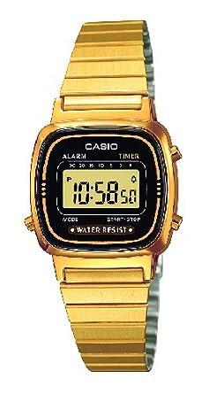 Casio armbanduhr gold damen