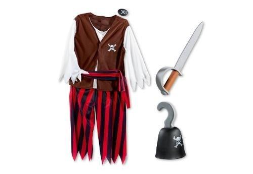 Piraten-Kostüm Set Größe 5-8 (Kostüme Ideen Jungen Piraten Für)