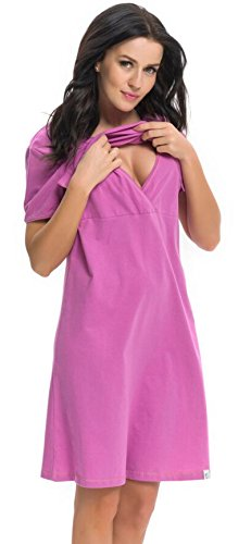 dn-nightwear - Chemise de nuit spécial grossesse - Femme Fuchsia