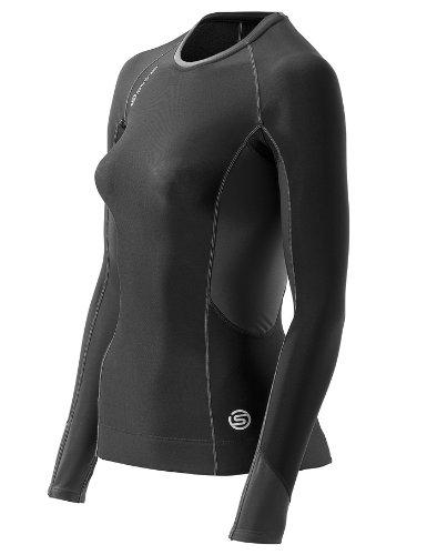 Skins Damen Kompressiontop S400 Thermal Long Sleeve, black/graphite/white, M (Lange Thermal Unterwäsche Long Sleeve)