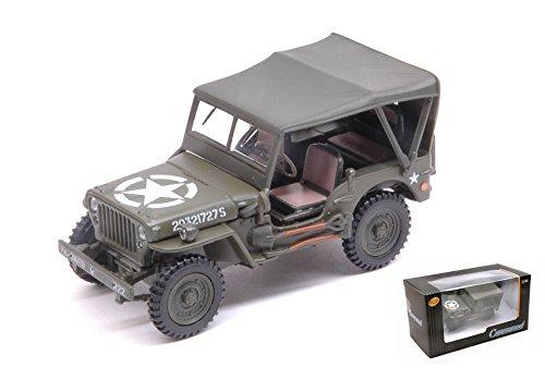 Jeep 1/4 ton.con tettuccio 1:43 - cararama - mezzi militari - die cast - modellino