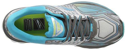 Brooks Glycerin 13, Chaussures de Running Entrainement Femme Noir (metalliccharcoal/bluebird/sharpgreen 030)