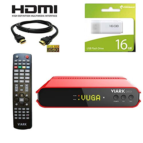 Kit Receptor satelite viark droi Regalo Cable HDMI + USB 16 GB